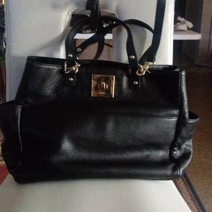 Huge Dkny Leather Tote